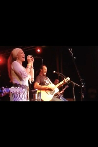 Sharing the stage with Michael Franti