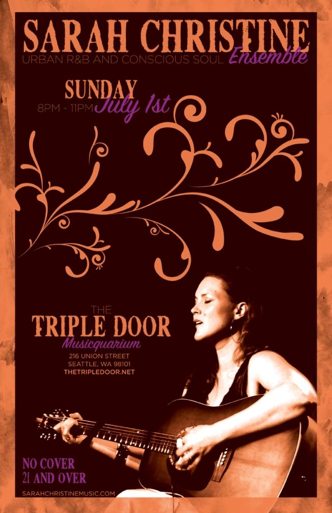 Sarah Christine Ensemble at The Triple Door Musicquarium ~ Sunday July 1st