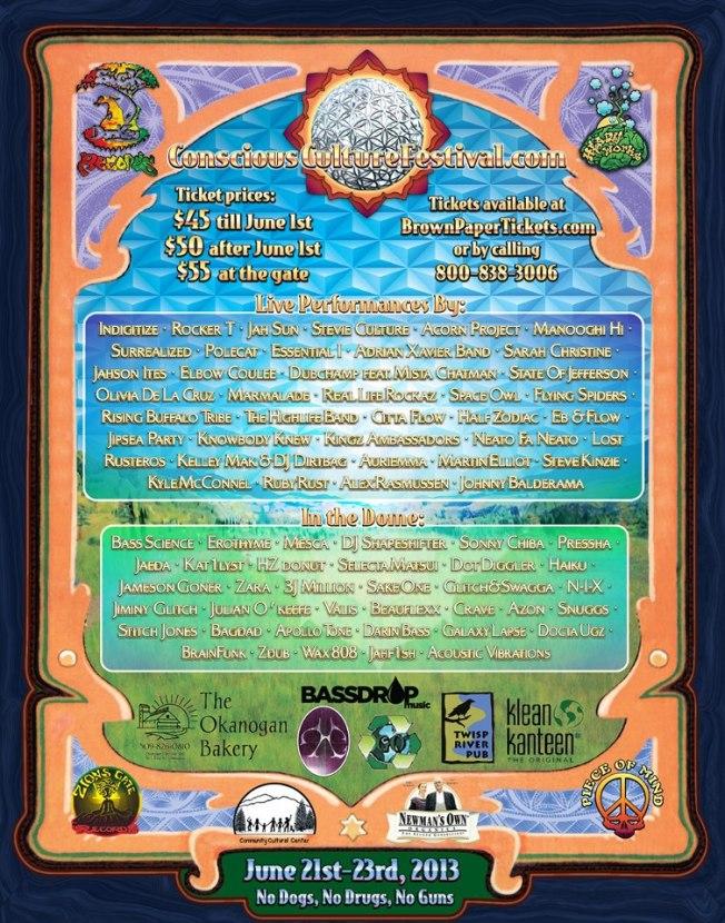 Conscious Culture Festival ~ Tonasket WA June 21-23 2013