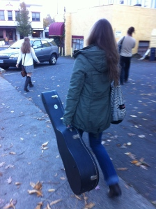 walking to soundcheck